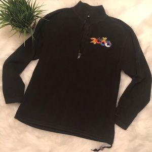 Black Disney 1/4 zip Fleece